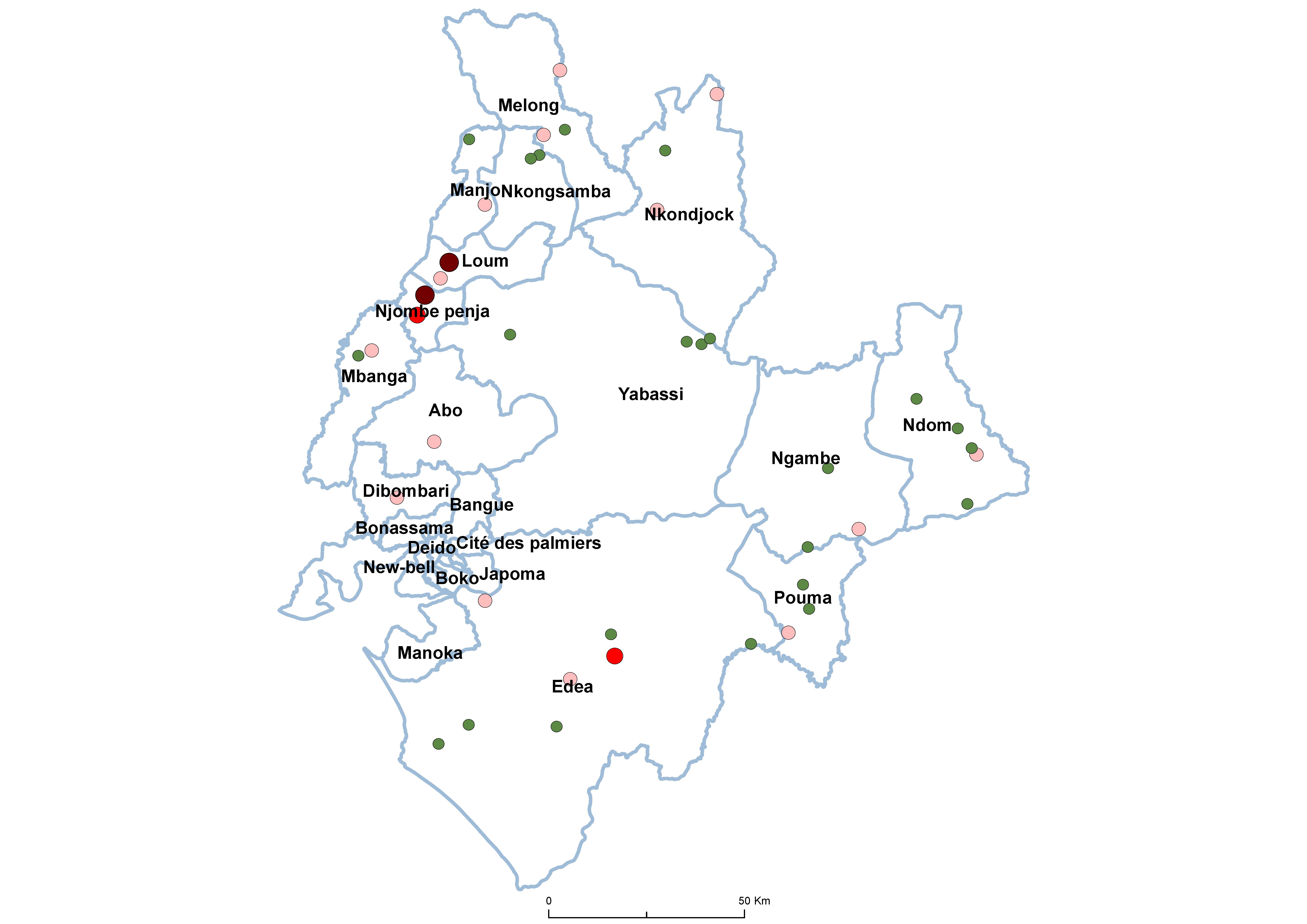 Littoral SCH Prevalence by school 19850001