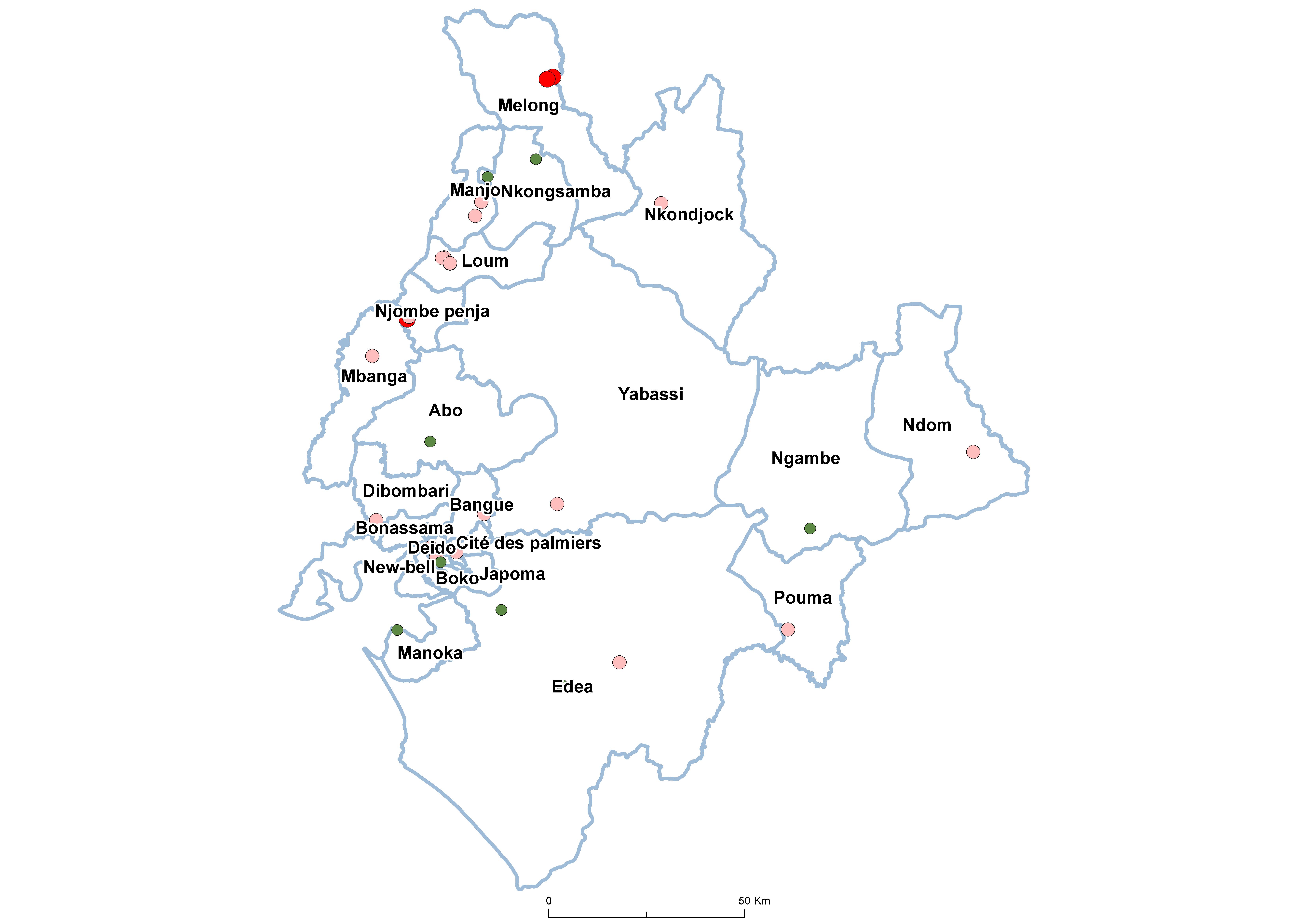 Littoral SCH Prevalence by school 20100001